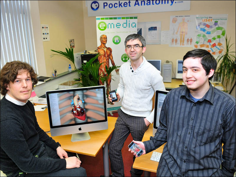Pocket Anatomy creators: Mark Campbell, Brian Geaney, and David Maher