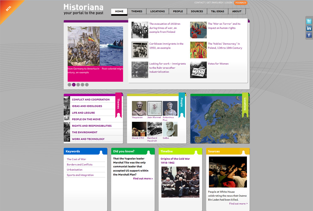 Screenshot of Historiana
