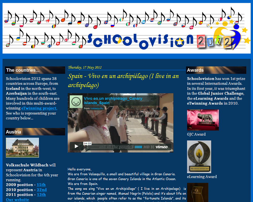 Screenshot of Schoolovision