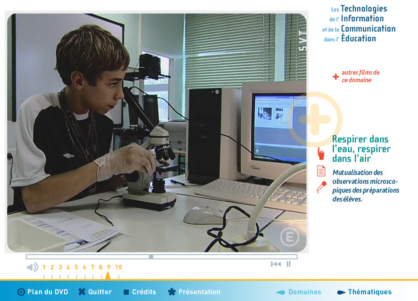 Screenshot of Les TIC en Classe, MEDEA Awards 2009 finalist
