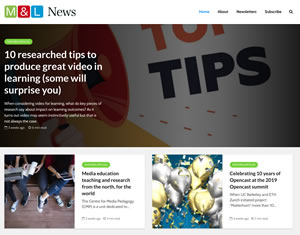 Media & Learning News website